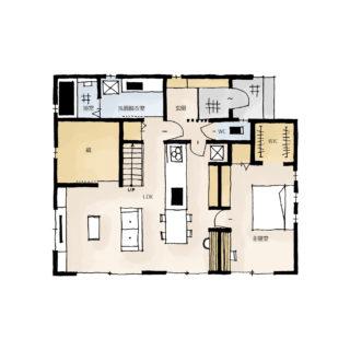 スペースを有効活用!蔵のある家の間取り | 平屋・27坪・2LDK