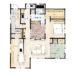 「猫と暮らす中庭テラスのある家」の間取り(1/2)  | 平屋・28坪・1LDK